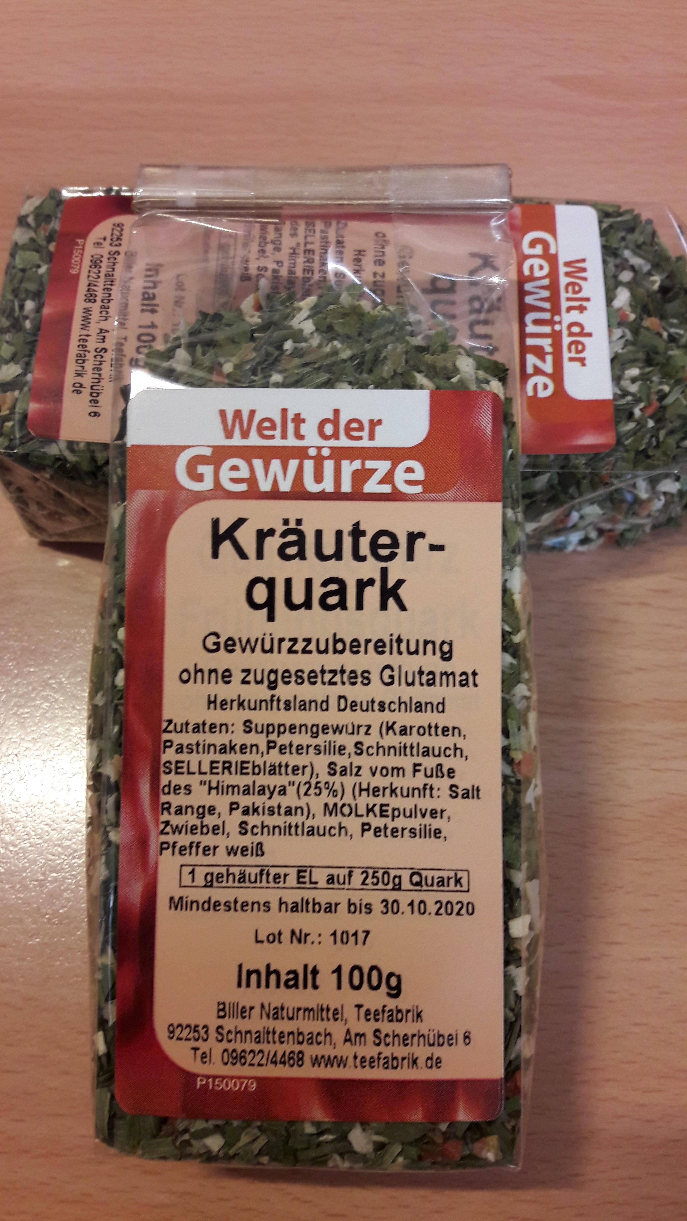 Quarkgewürz Kräuterquark