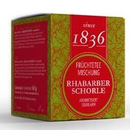 Früchte Tee Rhabarber Schorle